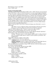MICROBIO 160 Study Guide - Midterm Guide: Protease, Hiv Vaccine, List Of Places In The Chronicles Of Narnia