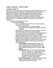 ANTH 0817 Study Guide - Biological Anthropology, Nonverbal Communication, Linguistic Anthropology