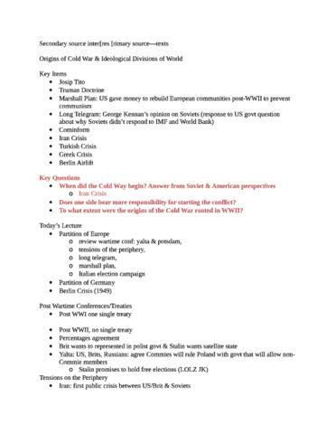 Cas Ir 350 Study Guide Spring 2012 Josip Broz Tito Percentages