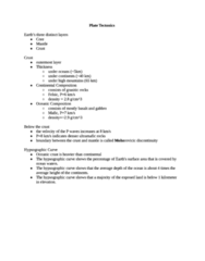 GEOL 100 Study Guide - Final Guide: Isostasy, Subduction, Continental Margin