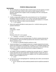PCB 4723C Study Guide - Midterm Guide: Rhodopsin, Hydraulic Conductivity, Active Transport