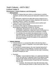 ANTH 0817 Study Guide - Cultural Relativism, Ethnocentrism, Relativism