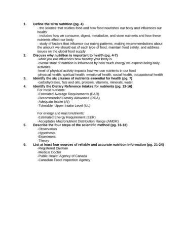 Nutr100 Textbook Notes Winter 2014 Quinoa Kwashiorkor Complete Protein
