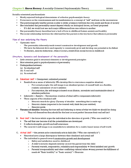 PSY 505 Lecture Notes - Lecture 4: Psychopathology, Elf, Omnipotence