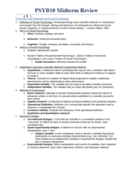 PSYB10H3 Study Guide - Final Guide: Gordon Allport, Statistical Significance, Social Proof