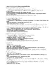 SOCIOL 2S06 Study Guide - Midterm Guide: Jenny Von Westphalen, George Herbert Mead, Friedrich Engels