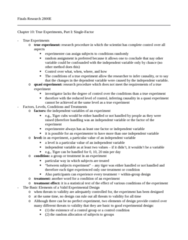 Psychology 2800E Study Guide - Final Guide: Experiment, Random Assignment, Complete Control
