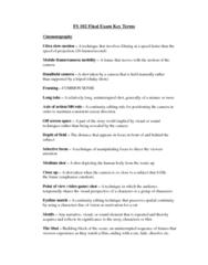 FS101 Study Guide - Final Guide: François Truffaut, Auteur Theory, Color Grading