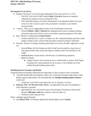 HIST296 Lecture Notes - Lecture 10: Precision Bombing, Casablanca Conference, Combined Bomber Offensive