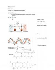 CHEM 143A Study Guide - Covalent Bond, Hydrogen Bond, Carboxylic Acid