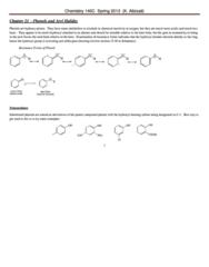 CHEM 143A Study Guide - Phenol, Paracetamol, Electron Transport Chain
