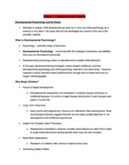PSYC 304 Study Guide - Jean Piaget, Urie Bronfenbrenner, Zeitgeist