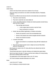Lecture 12 (review notes)