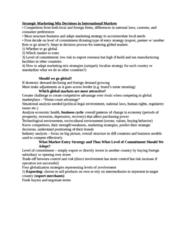 Strategic Marketing Internationally Notes (detailed)