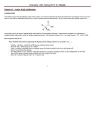 CHEM 143A Study Guide - Tryptophan, Threonine, Hydrogenolysis
