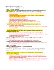 Biology 112 - Learning Goals MT1