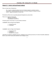 CHEM 143A Study Guide - Heterocyclic Compound, The Sequence, Maurice Wilkins