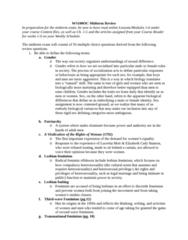 WS100 Study Guide - Midterm Guide: Lucretia Mott, Fetus, Intersex