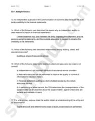 Audit exam 1 - Multiple Choice.docx