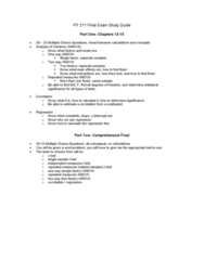 QM 214 Study Guide - Final Guide: Scatter Plot, Repeated Measures Design, Statistical Significance