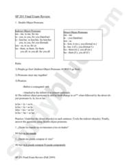 SPA 201 Study Guide - Final Guide: Croquette, Patatas Bravas, El Problema