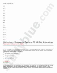 PSY 101 Study Guide - Quiz Guide: Oxford University Press