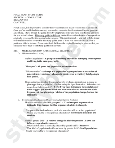 final exam study guide answers oneclass rh oneclass com Biology Review Questions Modern Biology