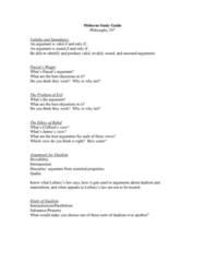 PHIL 297 Study Guide - Midterm Guide: Behaviorism, Stoicism, Chinese Room
