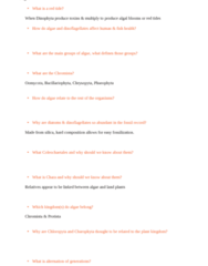 BIOL 201 Study Guide - Midterm Guide: Mitosis, Chrysophyta, Sporophyte