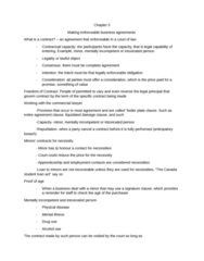 BADM*1010 Chapter Notes - Chapter 5: Employment Contract, Syllogism, Specific Performance