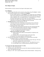 HIST296 Lecture Notes - Lecture 12: Anaplastic Lymphoma Kinase, Douglas Macarthur, Midway Atoll