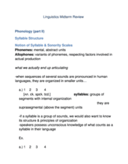 LIN100Y1 Study Guide - Final Guide: Underlying Representation, Thematic Relation, Isolating Language
