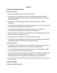 PSYC 3265 Chapter Notes - Chapter 3: Explicit Memory, Pollyanna Principle, Metamemory