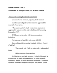 ACG 3103 Study Guide - Final Guide: Due Process, Financial Statement, Financial Accounting Foundation