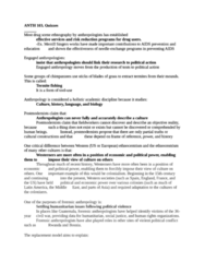 Anthropology 103 Final Study Guide Quizzes-ANTH 103