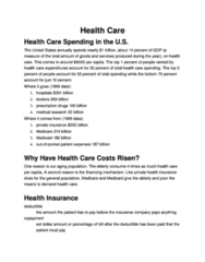ECO 1000 Lecture Notes - Health Maintenance Organization, Health Care Prices In The United States, Copayment