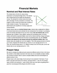 ECO 1000 Lecture Notes - Money Supply, Efficient-Market Hypothesis, The Incentive