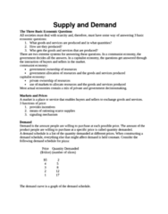 ECO 1000 Lecture Notes - Demand Curve