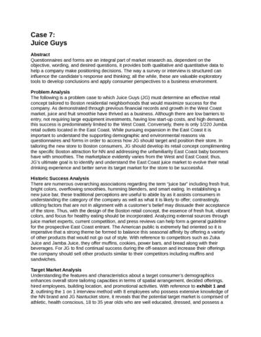 market-research-juice-guys-case-analysis