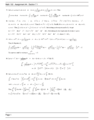 MATH 152 Chapter Notes -Equating Coefficients, Arkansas Highway 1, Partial Fraction Decomposition