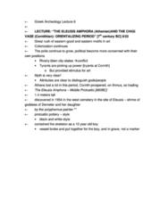 CLCV 217 Study Guide - Quiz Guide: Ballos, Amphora, Animal Style