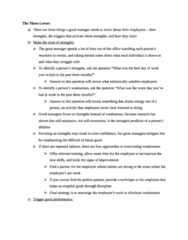 BUSI W3701 Quiz: Levers of Maximizing Strengths Notes