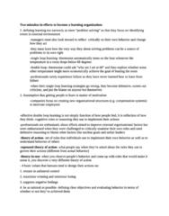 BUSI W3701 Quiz: Learning Organization Notes