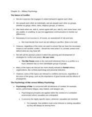 Psychology 2990A/B Chapter Notes - Chapter 10: Military Psychology, Social Learning Theory, Standardized Test
