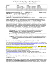 ISA 235 Lecture Notes - Lecture 1: Dbt Online Inc., Business Process Management, Business Process