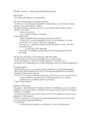 PSY 505 Lecture Notes - Lecture 4: Inferiority Complex, Child Focus, Parenting Styles