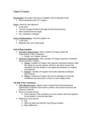 PLSC 111 Study Guide - Cloture, Gerrymandering, Unanimous Consent