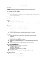PSYC 1000 Study Guide - Final Guide: Motor Cortex, Absolute Threshold, Optic Chiasm