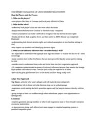 Cross Border Negotations Notes (review notes)