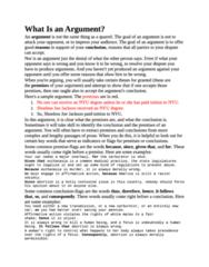 PHIL-UA 102 Quiz: Argumentation notes